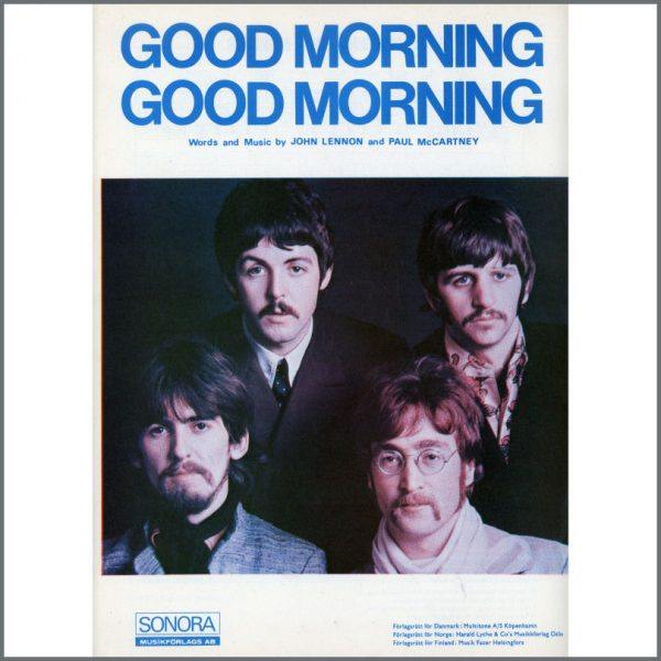 B25573 - The Beatles 1967 Good Morning Good Morning Sonora Sheet Music (Scandinavia)