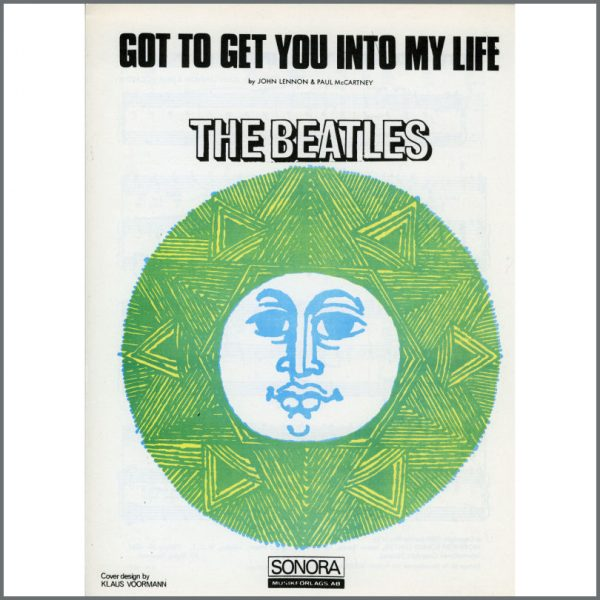 B25614 - The Beatles 1966 Got To Get You Into My Life Sonora Sheet Music (Scandinavia)