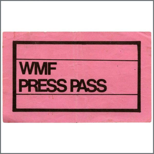 HEN0098 - Jimi Hendrix 1968 Woburn Music Festival Press Pass (UK)