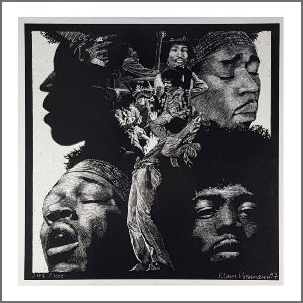 HEN0110 - Jimi Hendrix Klaus Voormann 1997 Signed Limited Edition Poster 247/400 (Germany)
