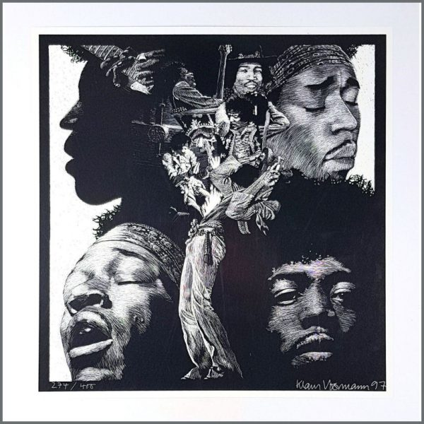 HEN0111 - Jimi Hendrix Klaus Voormann 1997 Signed Limited Edition Poster 274/400 (Germany)