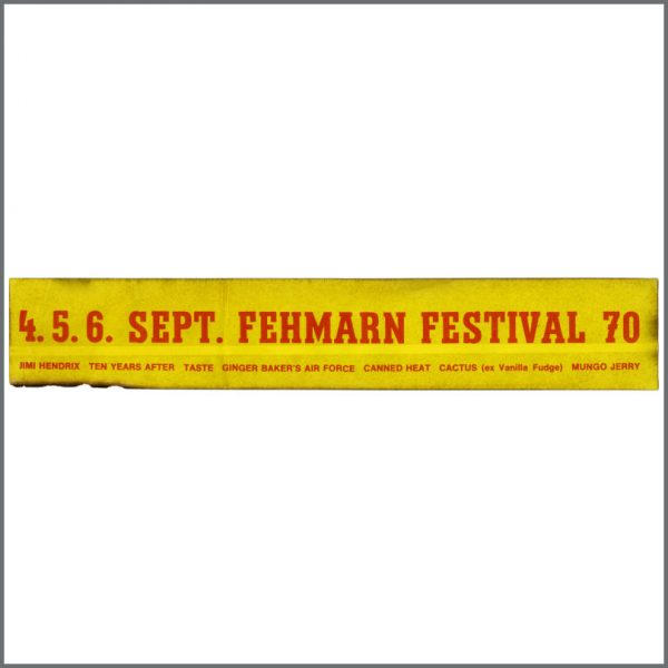 HEN0120 - Jimi Hendrix 1970 Fehmarn Love And Peace Festival Promotional Sticker (Germany)