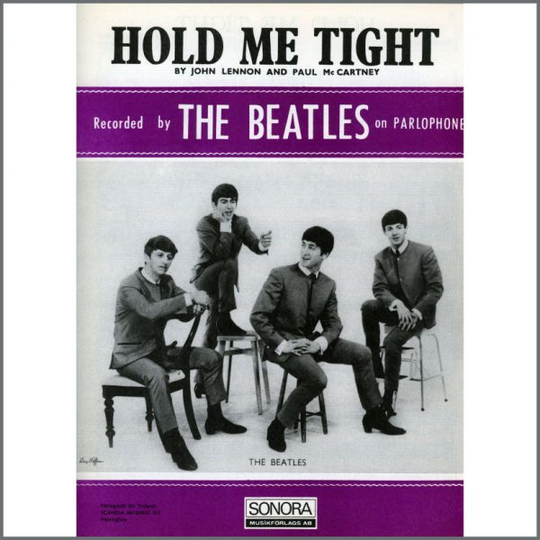 B25594 - The Beatles 1963 Hold Me Tight Sonora Sheet Music (Scandinavia)
