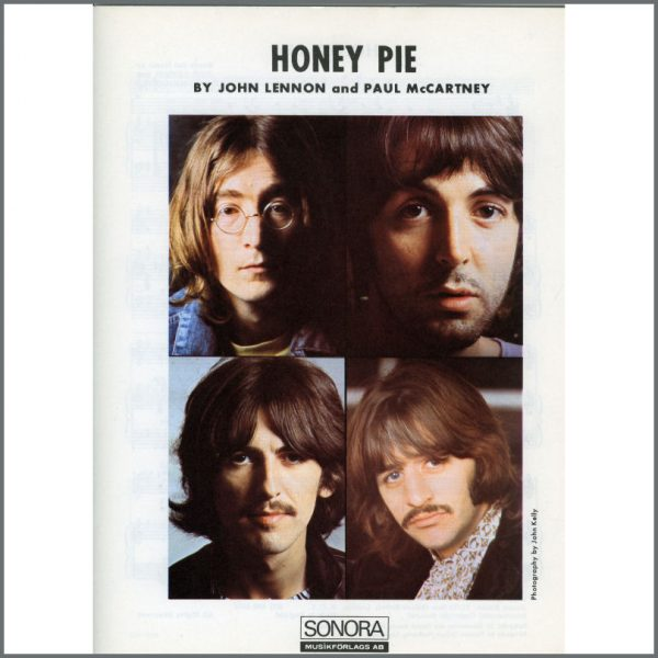 B25591 - The Beatles 1968 Honey Pie Sonora Sheet Music (Scandinavia)