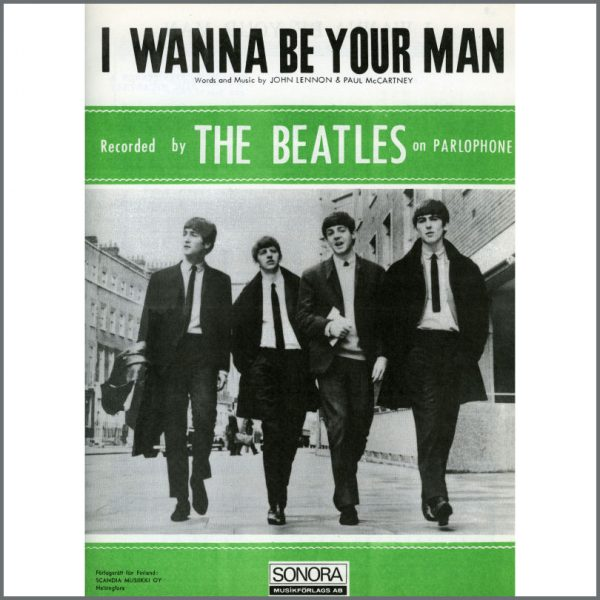 B25610 - The Beatles 1963 I Wanna Be Your Man Sonora Sheet Music (Scandinavia)