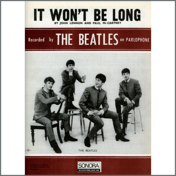 B25609 - The Beatles 1963 It Won't Be Long Sonora Sheet Music (Scandinavia)