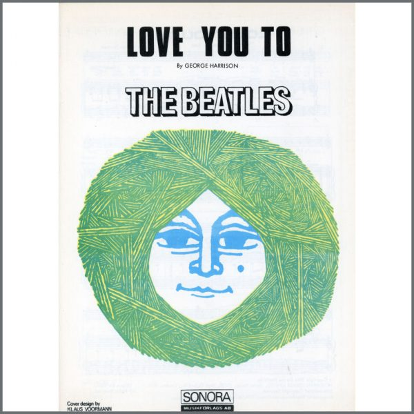 B25584 - The Beatles 1966 Love You To Sonora Sheet Music (Scandinavia)