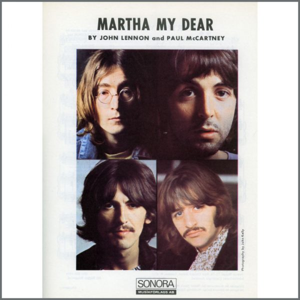 B25589 - The Beatles 1968 Martha My Dear Sonora Sheet Music (Scandinavia)