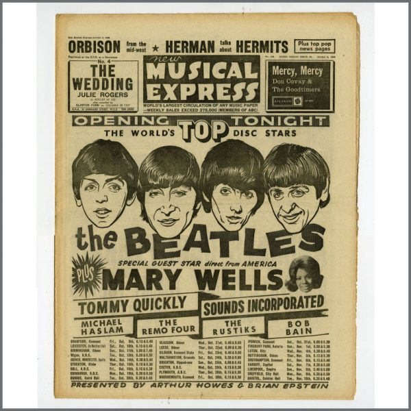B25500 - New Musical Express (NME) 1964 Music Papers Complete Year (UK)