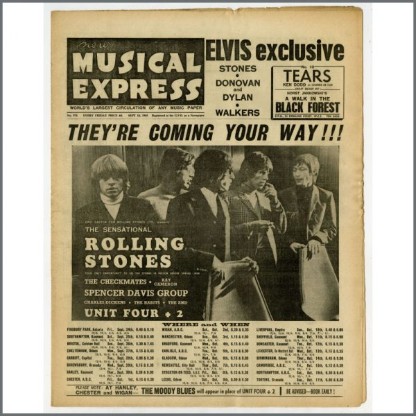 B25501 - New Musical Express (NME) 1965 Music Papers Complete Year (UK)