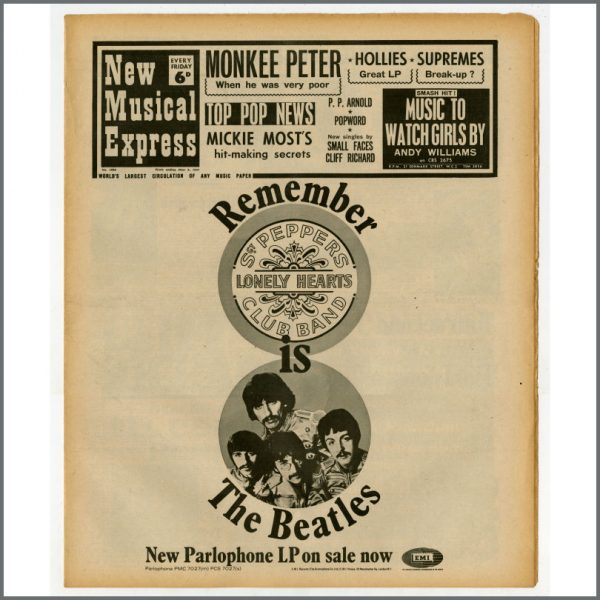 B25503 - New Musical Express (NME) 1967 Music Papers Complete Year (UK)
