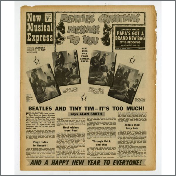 B25504 - New Musical Express (NME) 1968 Music Papers Complete Year (UK)