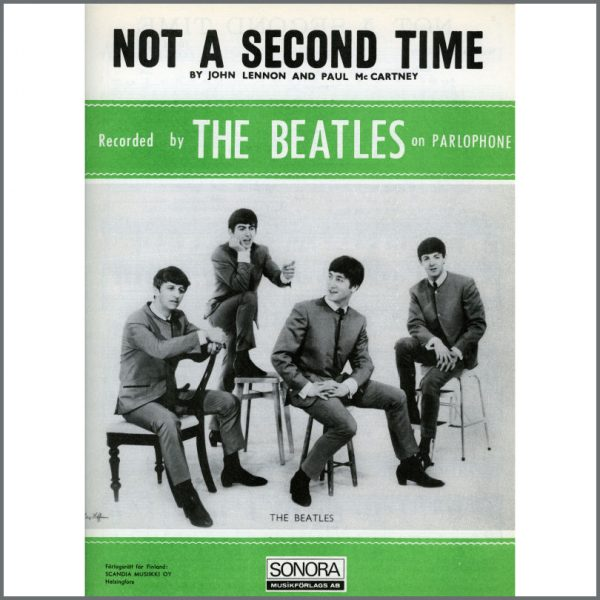 B25608 - The Beatles 1963 Not A Second Time Sonora Sheet Music (Scandinavia)