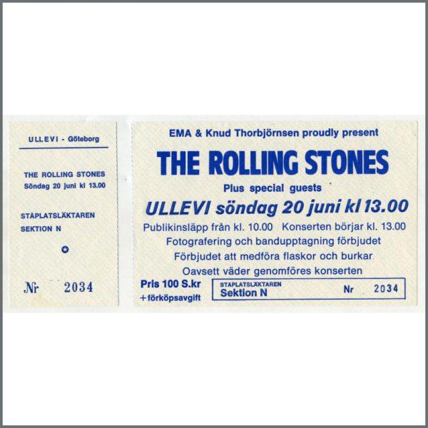 RS347B - Rolling Stones Ullevi Stadium 1982 Concert Ticket (Sweden)