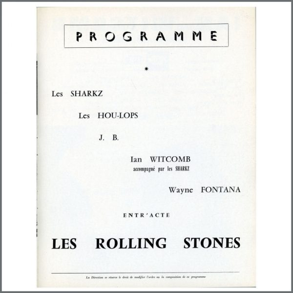RS489 – The Rolling Stones Olympia Theatre Programme (France) 2