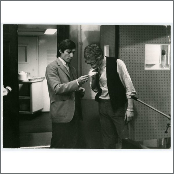 RS525 - Charlie Watts & Andrew Loog Oldham 1960s Vintage Photograph (UK)