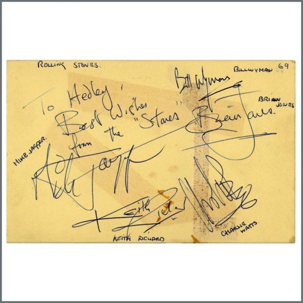RS543 - Rolling Stones 1960s Autographs (UK)