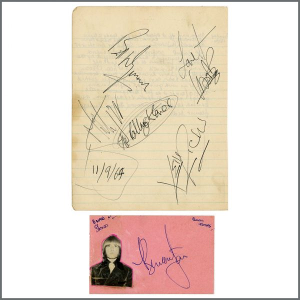 RS577 - The Rolling Stones 1960s Autographs (UK)