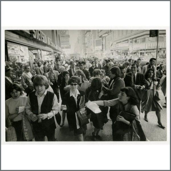 RS591 - Rolling Stones Brian Jones & Charlie Watts 1960s Vintage Photograph (USA)