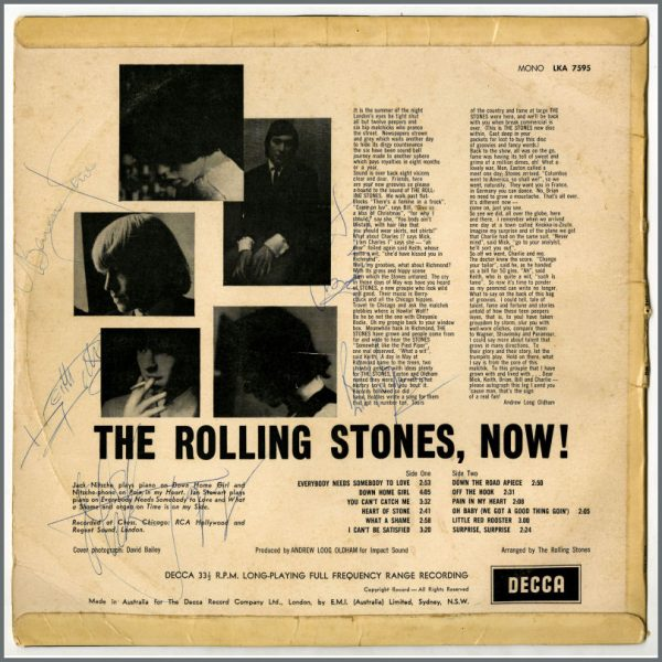 RS595 - The Rolling Stones 1966 Fully Autographed LP (Australia)