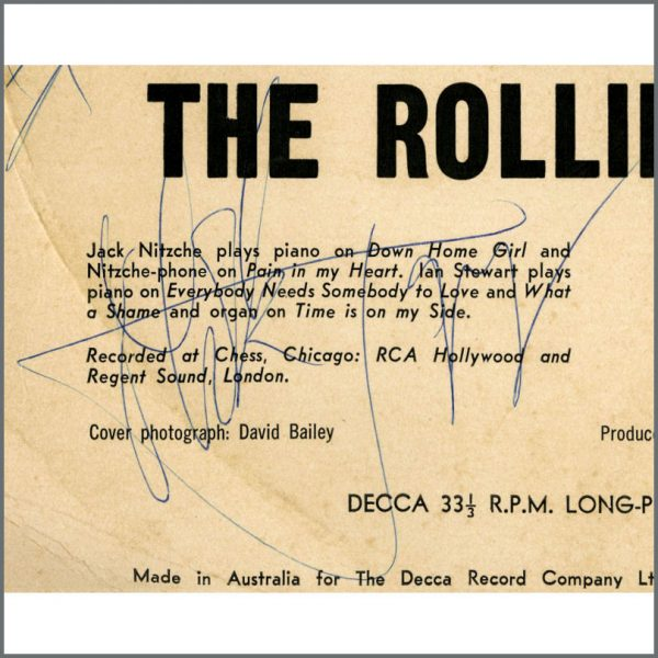 RS595 – The Rolling Stones 1966 Fully Autographed LP (Australia) 3