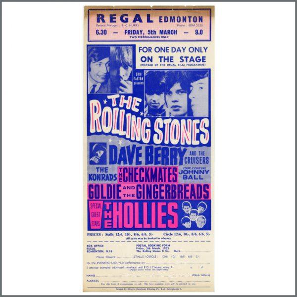 RS598 - Rolling Stones 1965 Regal Edmonton ABC Handbill (UK)