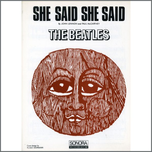 B25582 - The Beatles 1966 She Said She Said Sonora Sheet Music (Scandinavia)