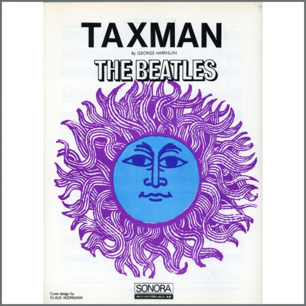 B25583 - The Beatles 1966 Taxman Sonora Sheet Music (Scandinavia)