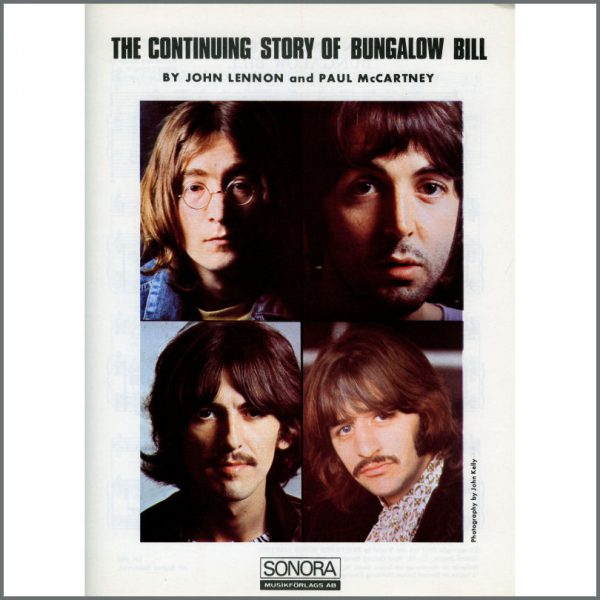 B25605 - The Beatles 1968 The Continuing Story Of Bungalow Bill Sonora Sheet Music (Scandinavia)