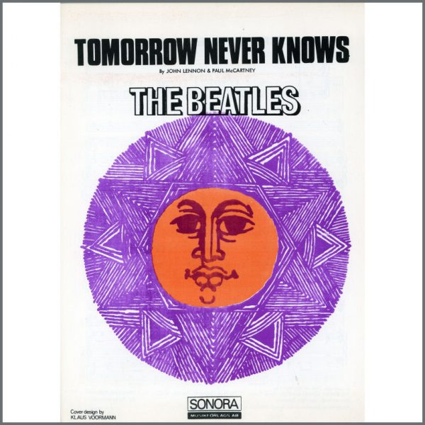 B25581 - The Beatles 1966 Tomorrow Never Knows Sonora Sheet Music (Scandinavia)