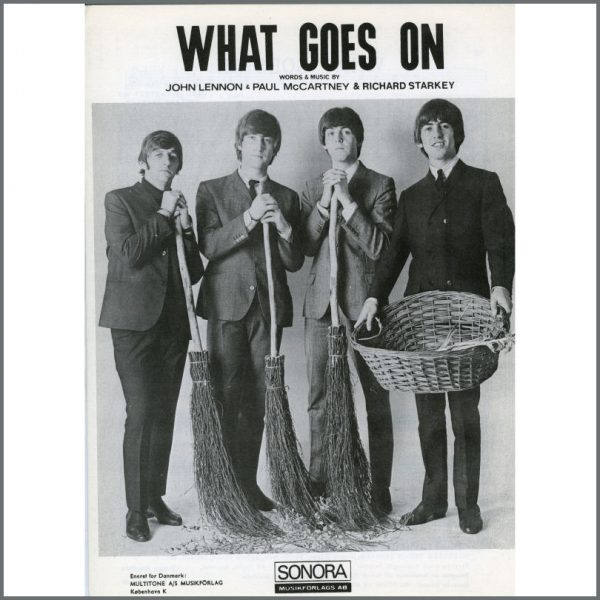 B25601 - The Beatles 1965 What Goes On Sonora Sheet Music (Scandinavia)