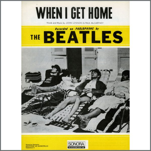 B25597 - The Beatles 1964 When I Get Home Sonora Sheet Music (Scandinavia)