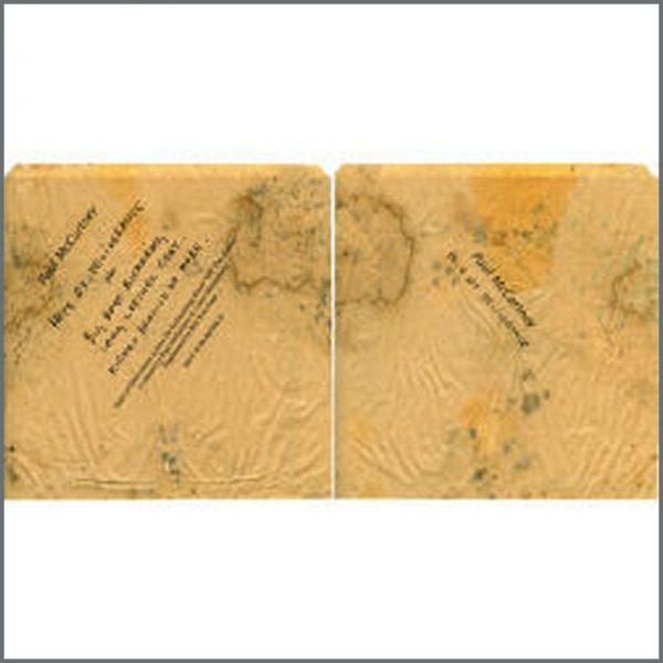 B20758 - Paul McCartney Hope of Deliverance Promotional Brown Paper Bag