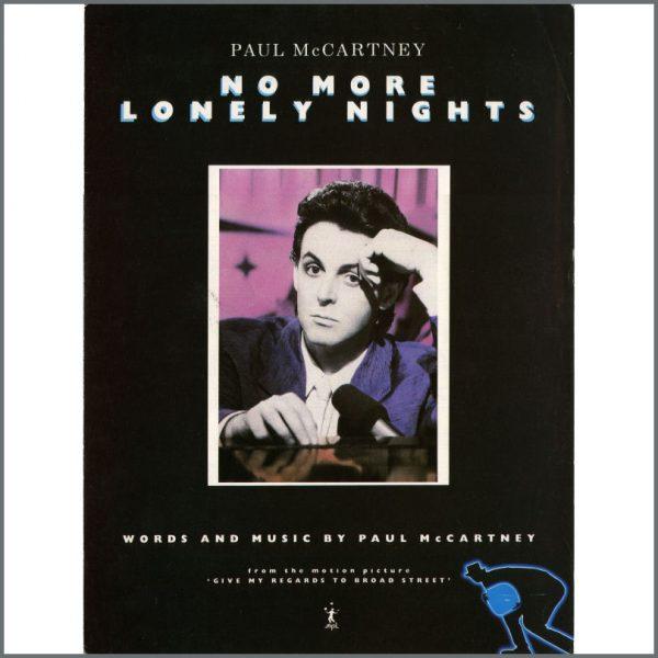 B22095 - Paul McCartney No More Lonely Nights Sheet Music (UK)