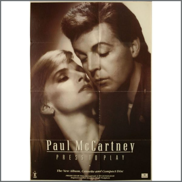 B22142 - Paul McCartney Press To Play Promotional Poster (UK)