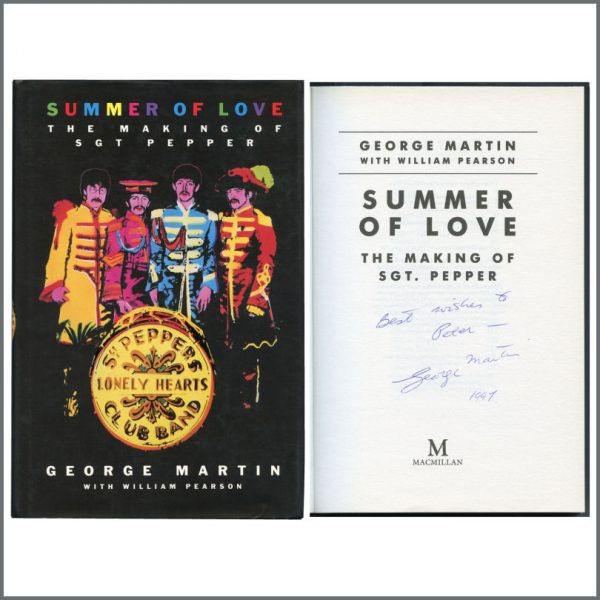 B27397 - George Martin 1997 Autographed Summer Of Love Hardback Book (UK)