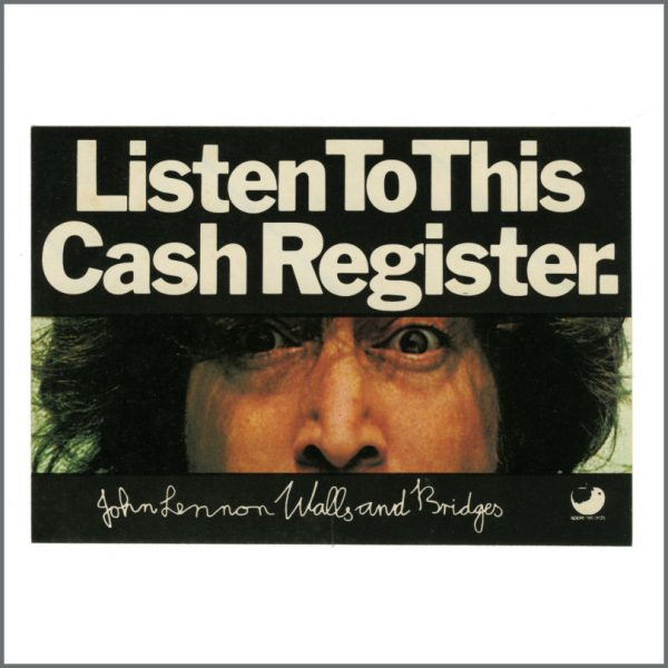B27559 - John Lennon 1974 Walls & Bridges Unused Promotional Sticker (UK)
