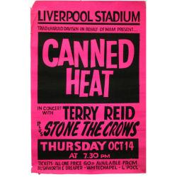 B22210 - Canned Heat 1971 Liverpool Stadium Concert Poster (UK)