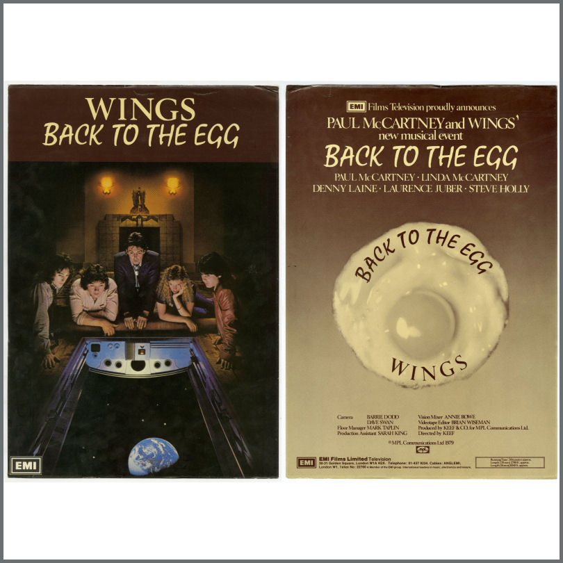 B25840 - Paul McCartney 1979 Wings Back To The Egg Double Sided Display  Poster (UK)
