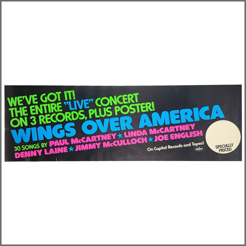 B28682 - Paul McCartney 1976 Wings Over America Promotional Banner Poster  (USA)