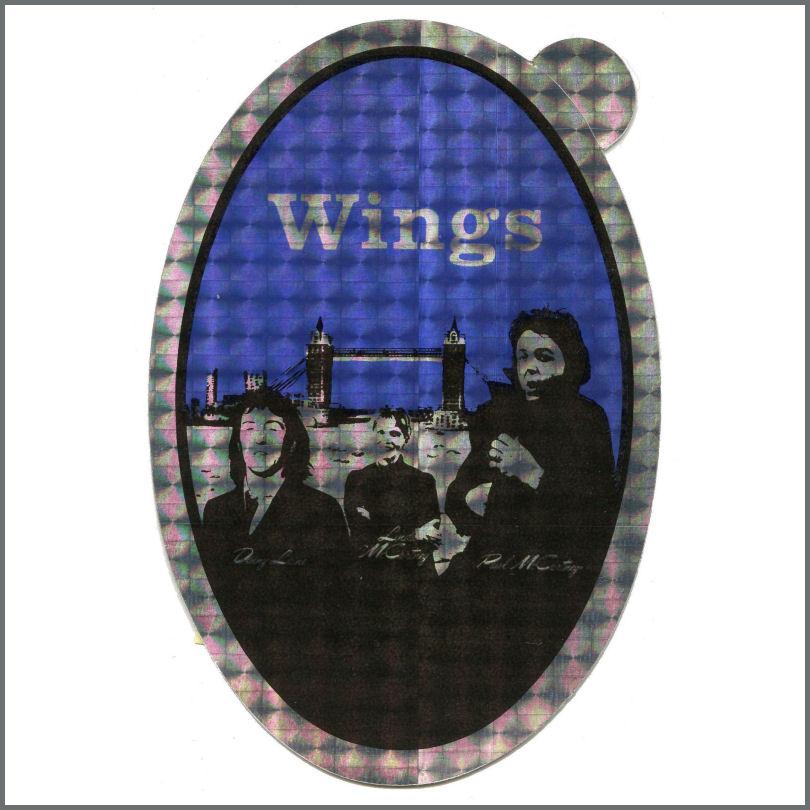B29271 - Paul McCartney 1978 Wings London Town Promotional Sticker (UK)