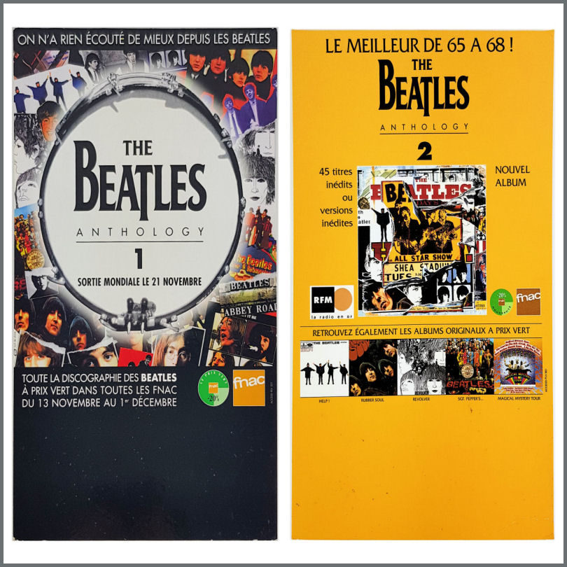 B29366 - The Beatles 1995 Anthology 1 & 2 Promotional Shop Displays (France)