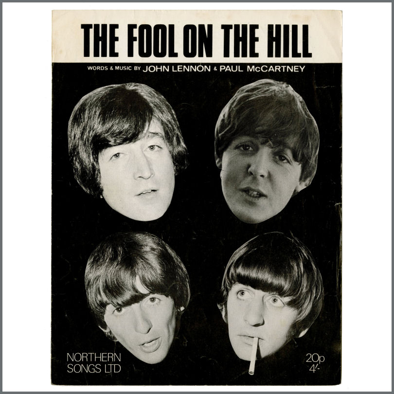B29505 - The Beatles 1967 The Fool On The Hill Northern Songs Ltd  Sheet  Music (UK)