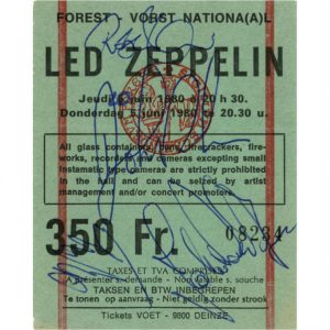 Led Zeppelin Autographs