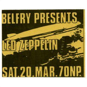Led Zeppelin Concert Memorabilia
