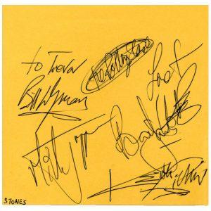 Rolling Stones Autographs