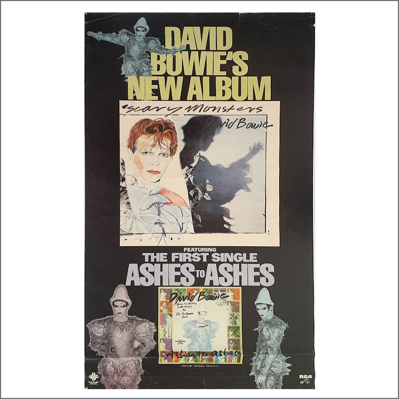 B30706 - David Bowie 1980 Scary Monsters Ashes To Ashes Promotional Poster  (USA)